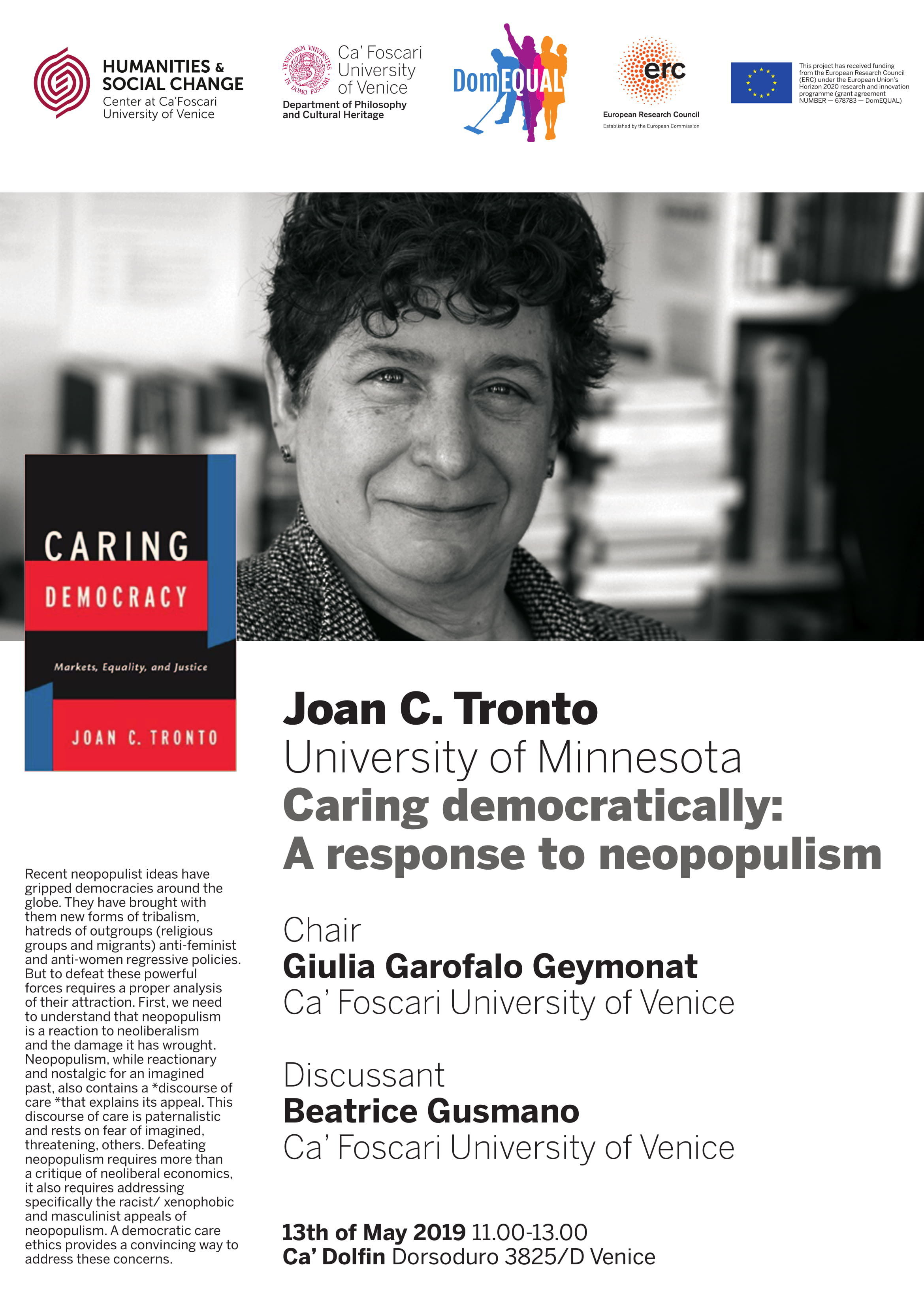 Caring democratically: A response to neopopulism - DomEQUAL